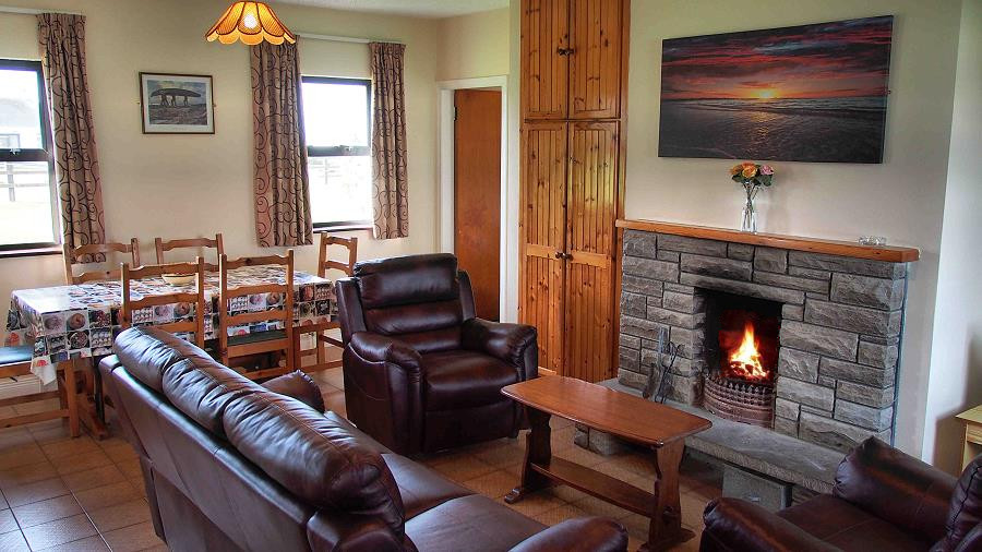 Living Dining Room With Open Fire Place